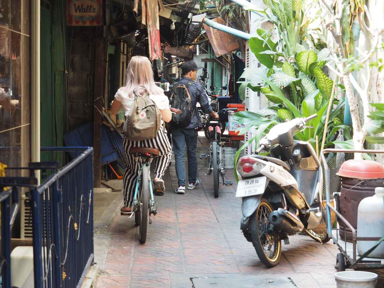 画像1: 15:00 バンコクの下町をサイクリングで駆け抜ける(所要時間約2時間)