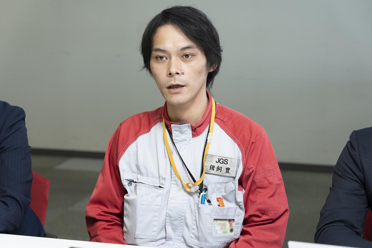 画像: JALグランドサービス 東京支店教育センター東京教育グループ係長 猪飼 豊