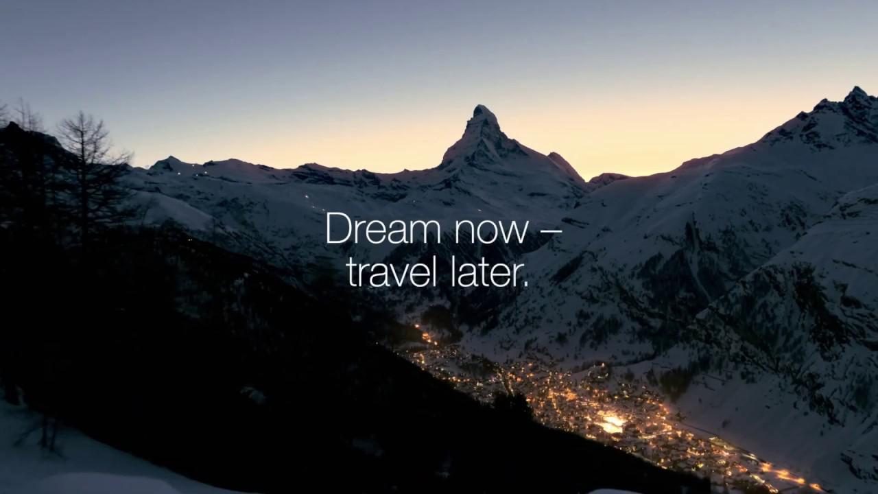 画像: Dream now - travel later www.youtube.com