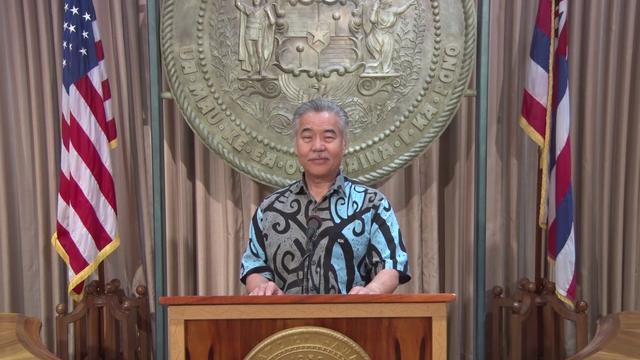 画像: ハワイ州知事デイビッド・イゲからのメッセージ youtu.be