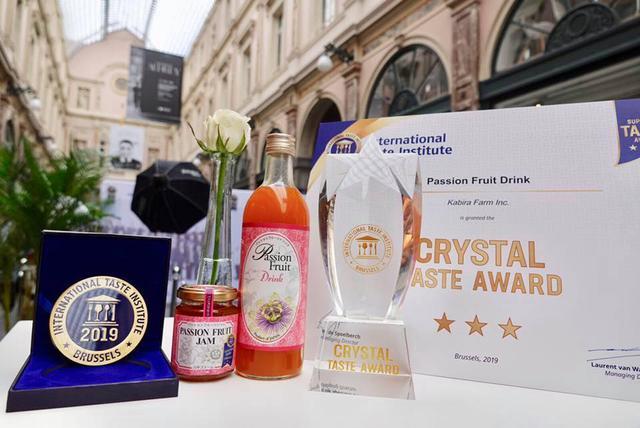 画像: パッションフルーツドリンクは、食品のミシュランとも呼ばれている「InternationalTaste Institute」において、3年連続で優秀味覚賞の最高位である三ツ星を受賞