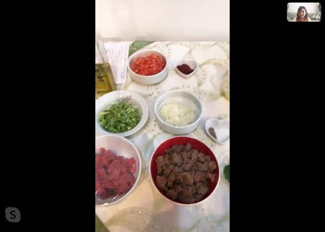 画像2: 日本とトルコでTV電話!料理レッスン体験レポート