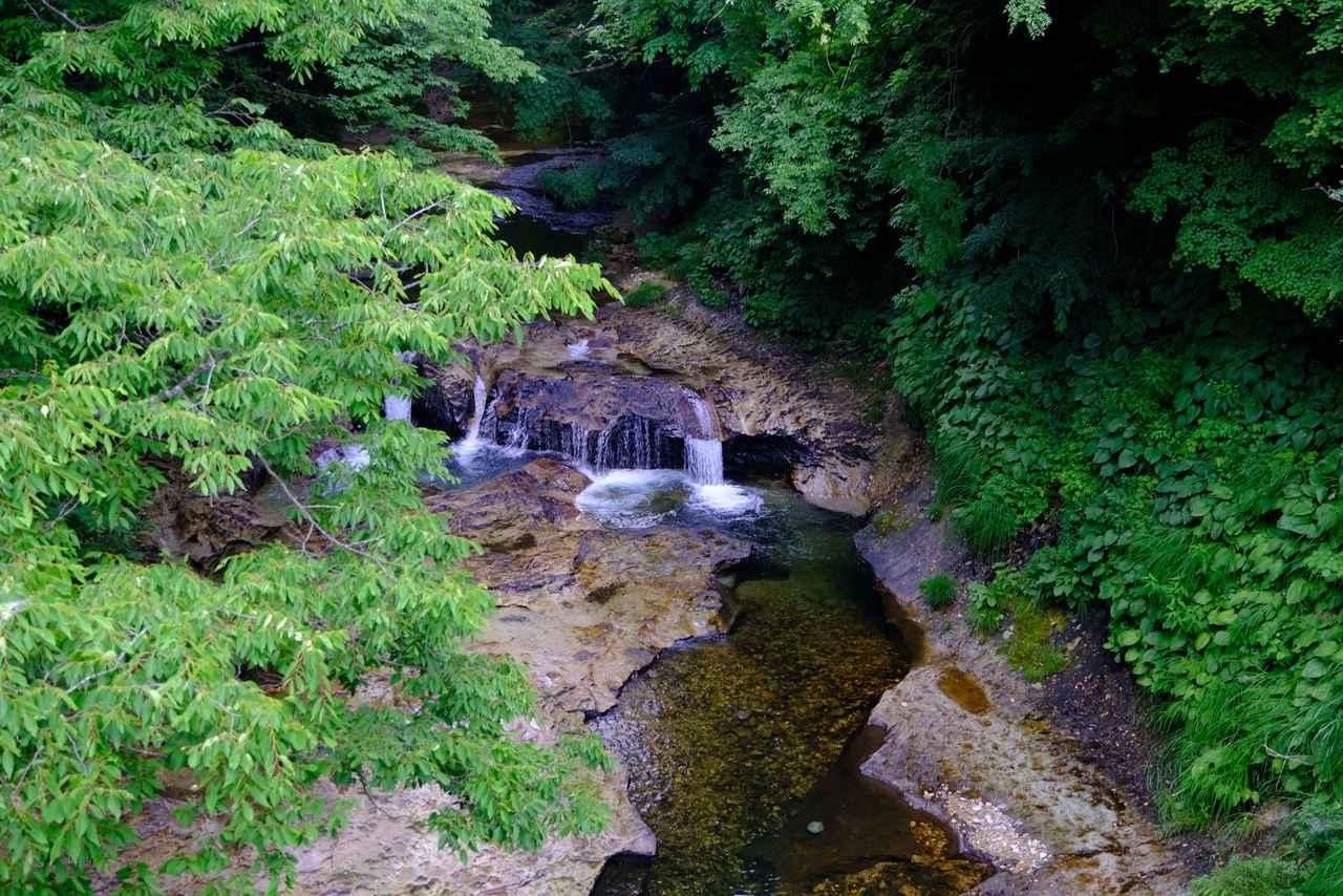 画像: 岩松旅館からお散歩気分で到着します。水清き広瀬川沿いを歩いて5分ほど。