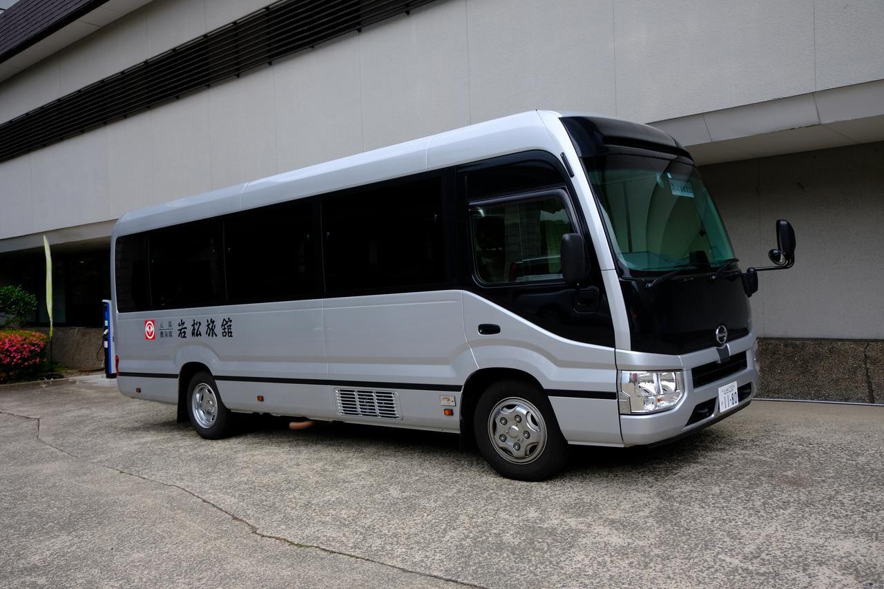 画像: 岩松旅館では、作並駅からの送迎があります。バスの場合は目の前まで行けるので不要ですが、電車をお使いの場合は送迎予約しておくと便利です。