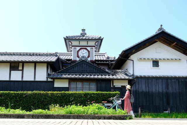 画像: 安芸市のシンボル「野良時計」を見に、安芸の町を北へ向かい走ります。