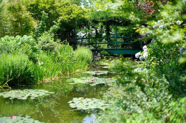 画像: 本家フランスにあるモネの庭にもある太鼓橋も再現されています。