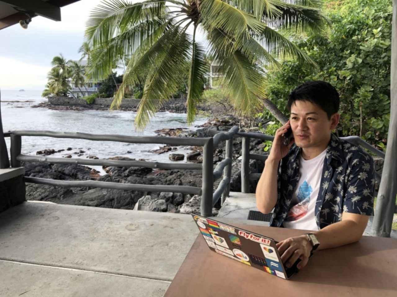 画像: JAL・人財戦略部でワーケーションを推進する東原も座談会に参加しました。東原自身も何度もワーケーションを経験しています。