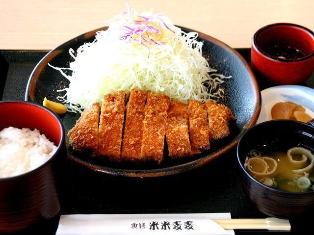 画像: イチオシの「黒豚とんかつ膳」1580円(税別) 黒豚の旨みがぎっしり