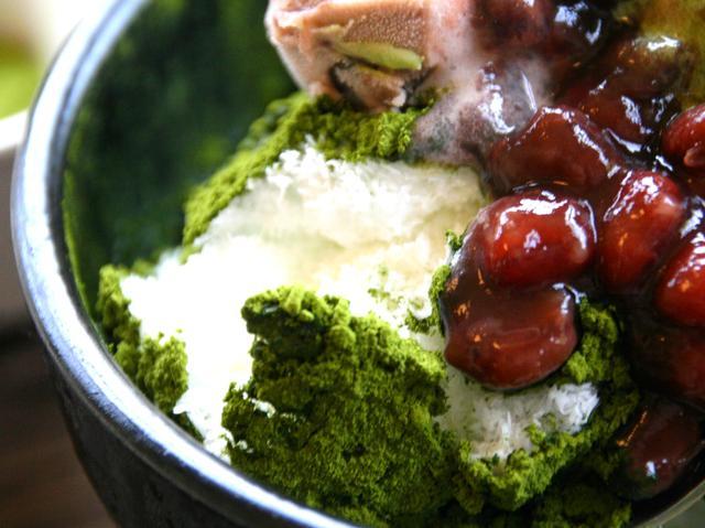 画像: ふわふわのかき氷の新食感が楽しい。パウダー状の新茶やミルクテイストも美味