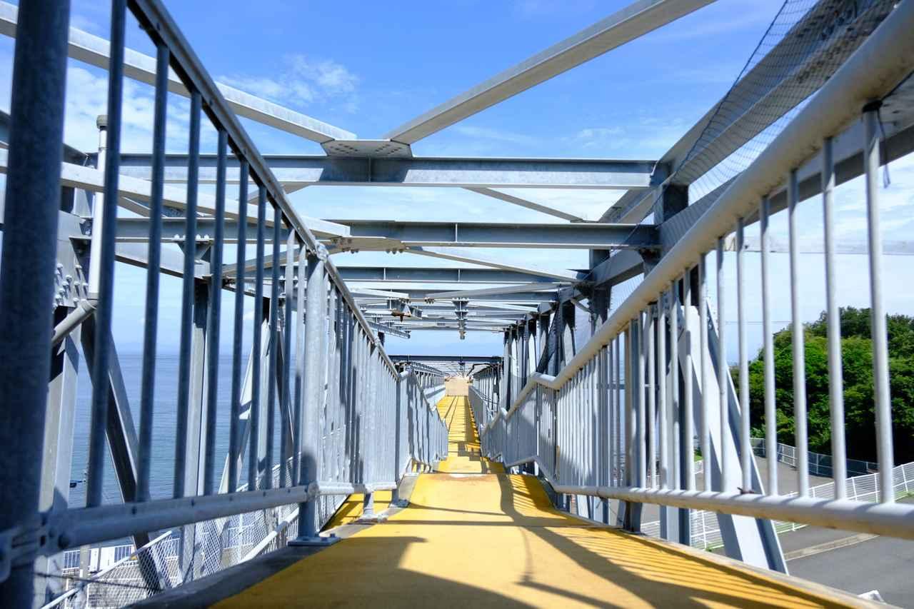 画像: 桟橋を進み、海の先まで行きますよ。