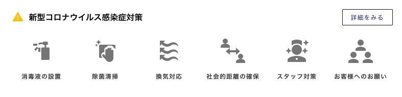 画像: 感染防止対策を表示したアイコン