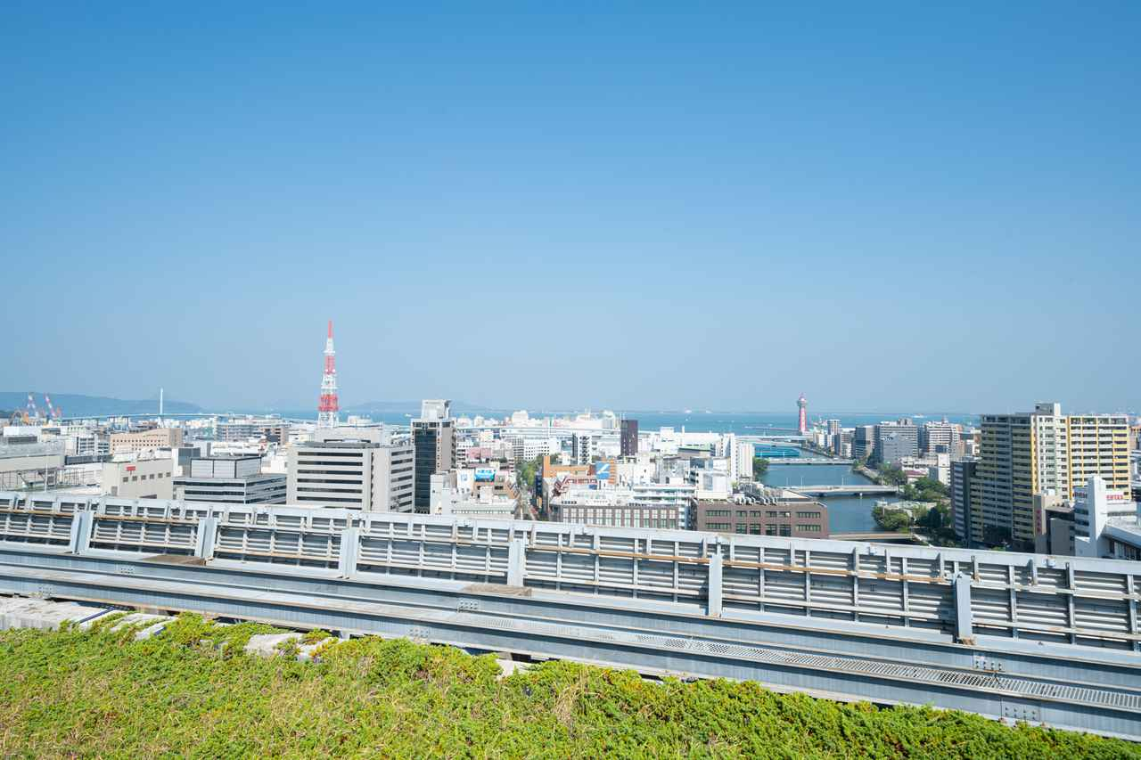 画像: 中洲、博多方面の眺め