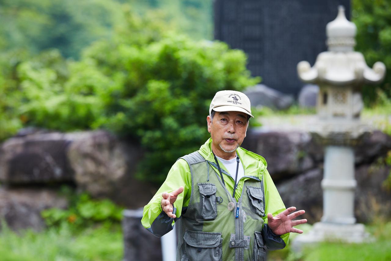 画像: ゆざわジオパークガイド 三浦敏男さん