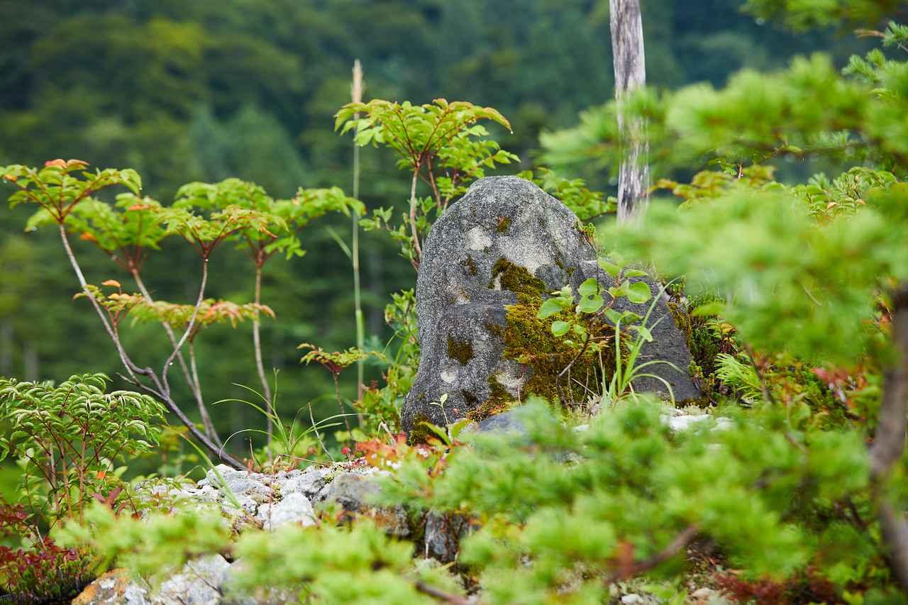 画像: お地蔵さまの坐像は長年の風雨にさらされ、角がとれてこのようなお姿に