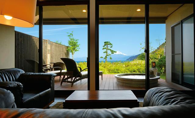 画像3: 【静岡】洋上に浮かぶ富士山を露天風呂から愛でる感動体験