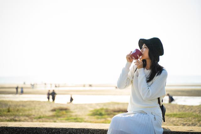画像2: 「日本のウユニ塩湖」父母ヶ浜で、砂紋が描く干潟美と天空を映す鏡に感動
