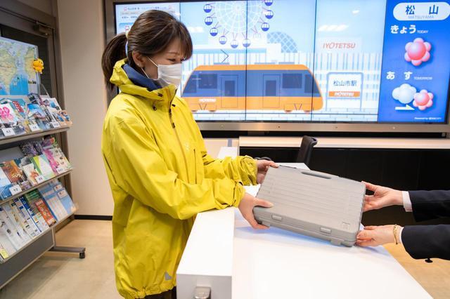 画像1: 松山空港で愛車と対面。サイクリング旅の準備はラクラク