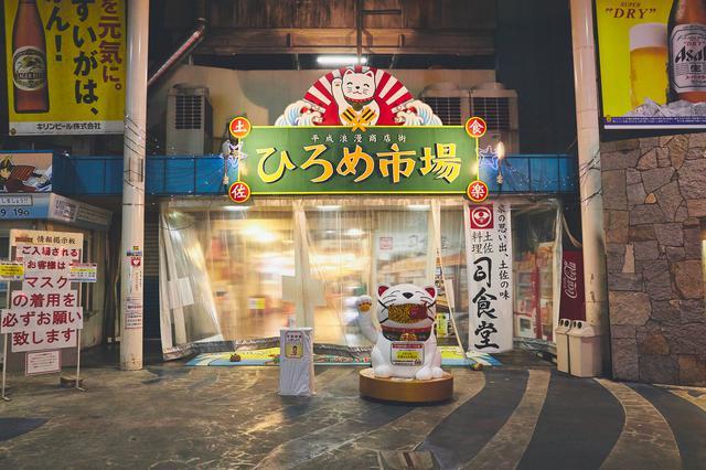 画像1: 高知の夜のマストスポット! 活気溢れる屋台村「ひろめ市場」で名物料理を