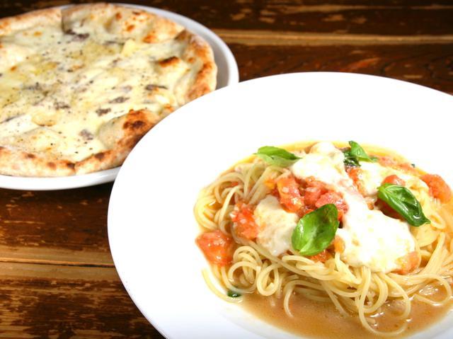 画像: シーズンごとに登場する季節のパスタやピザなどもあり、地元の方々にも人気