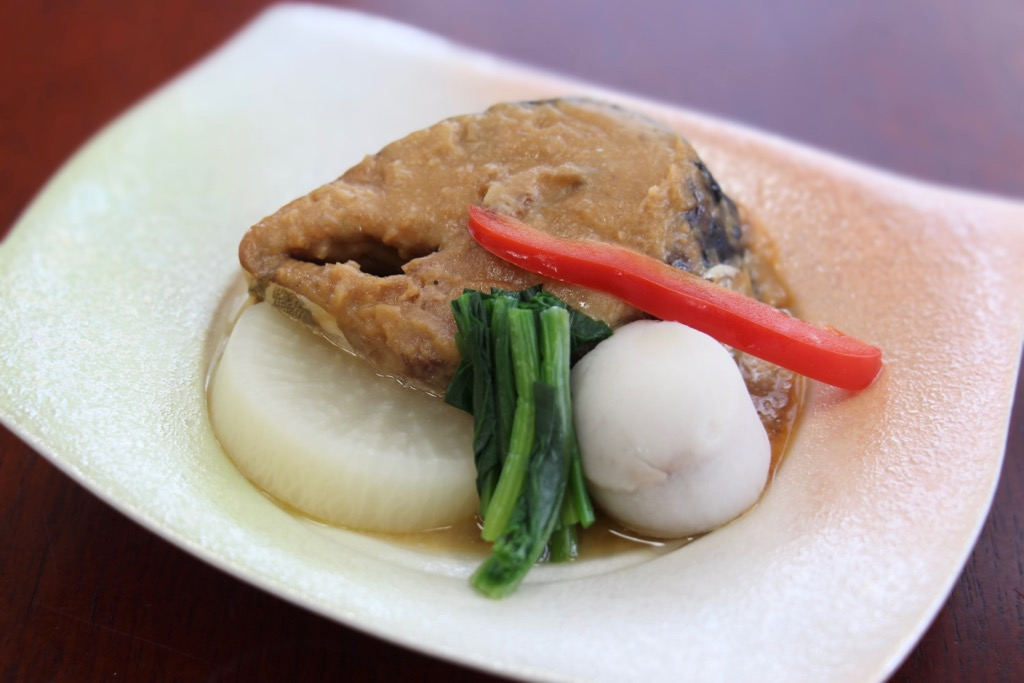 画像: 「鯖味噌煮、季節の野菜」