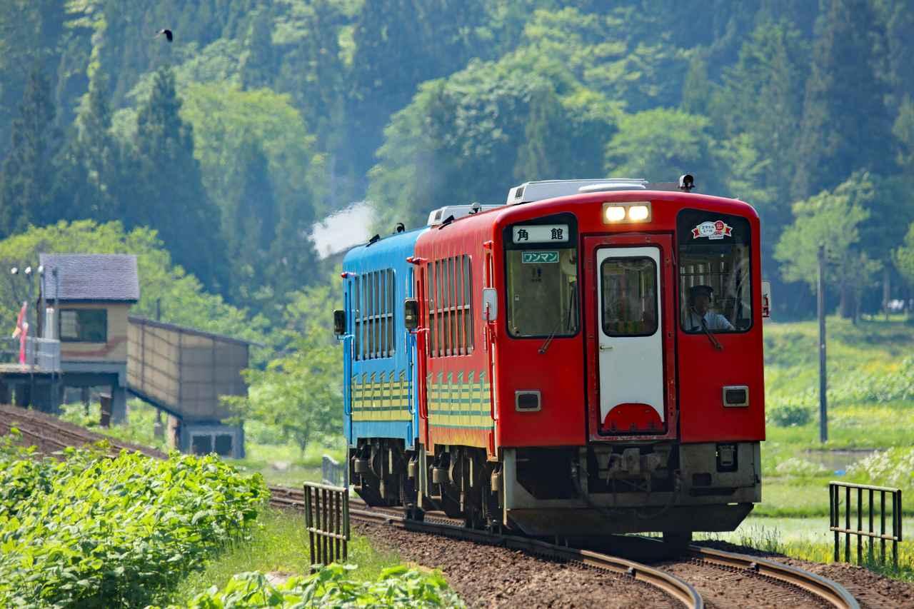 画像1: 【絶景②】「秋田内陸縦貫鉄道」で新緑をまたぐ絶景旅(北秋田市)