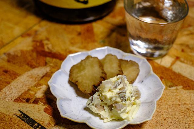 画像: しっかり燻されたいぶりがっことクリームチーズ和え。