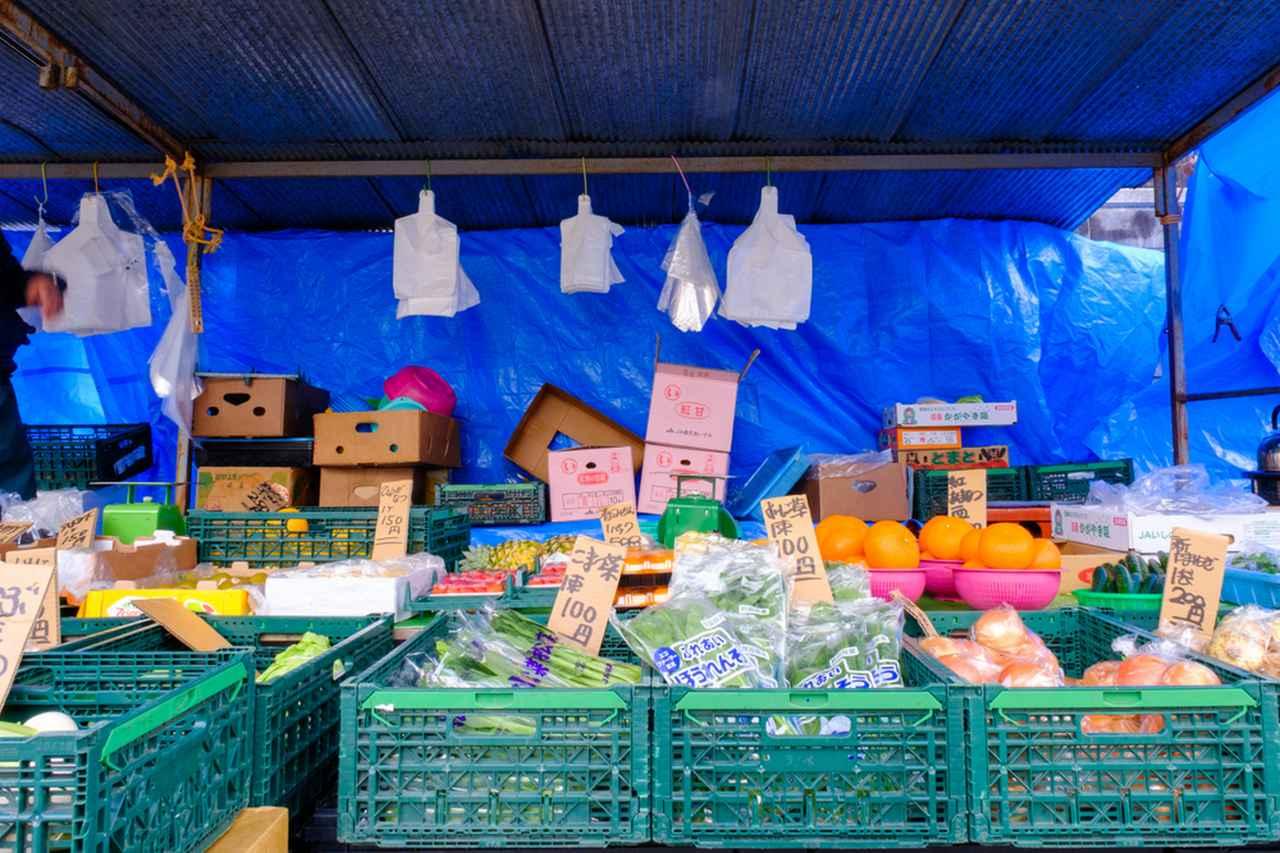 画像: ずらりと並ぶフルーツや新鮮な野菜。