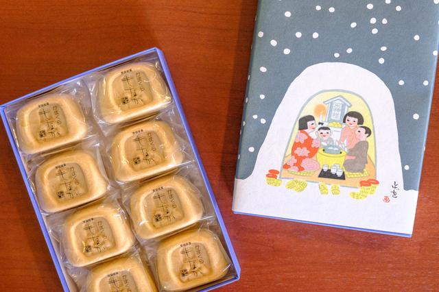 画像: 伝統行事「かまくら」をモチーフにした最中は、パッケージも好評。