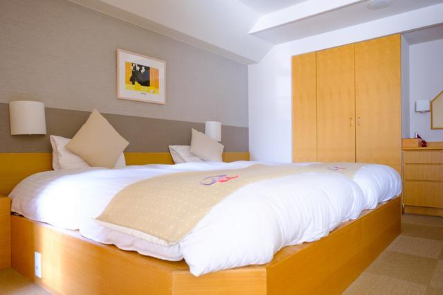 画像: アネックス特別室、広さは36㎡、ハリウッドツインタイプのベッドが入ります。
