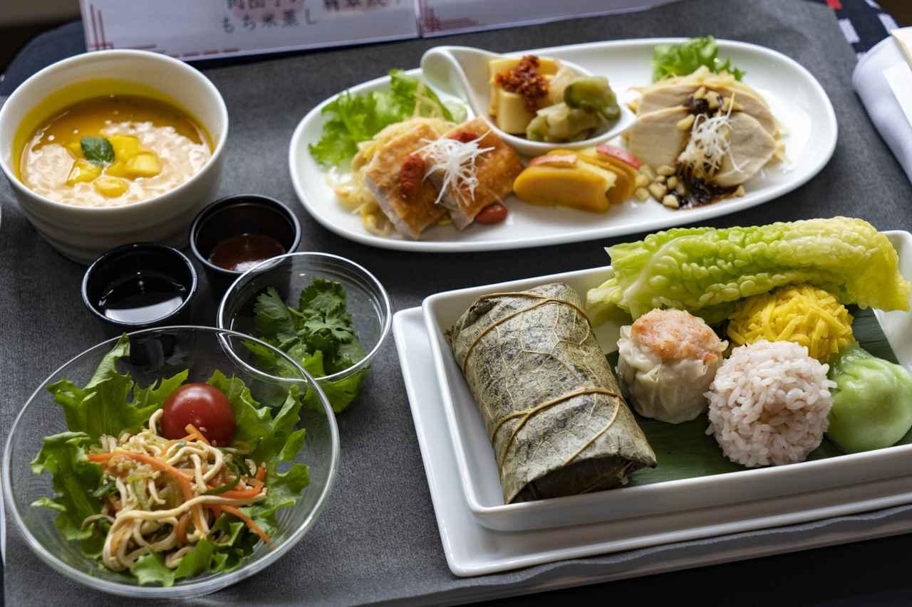 画像3: 機内食は高級中華。台湾の味覚を詰め込んだ、ヤムチャ仕立て