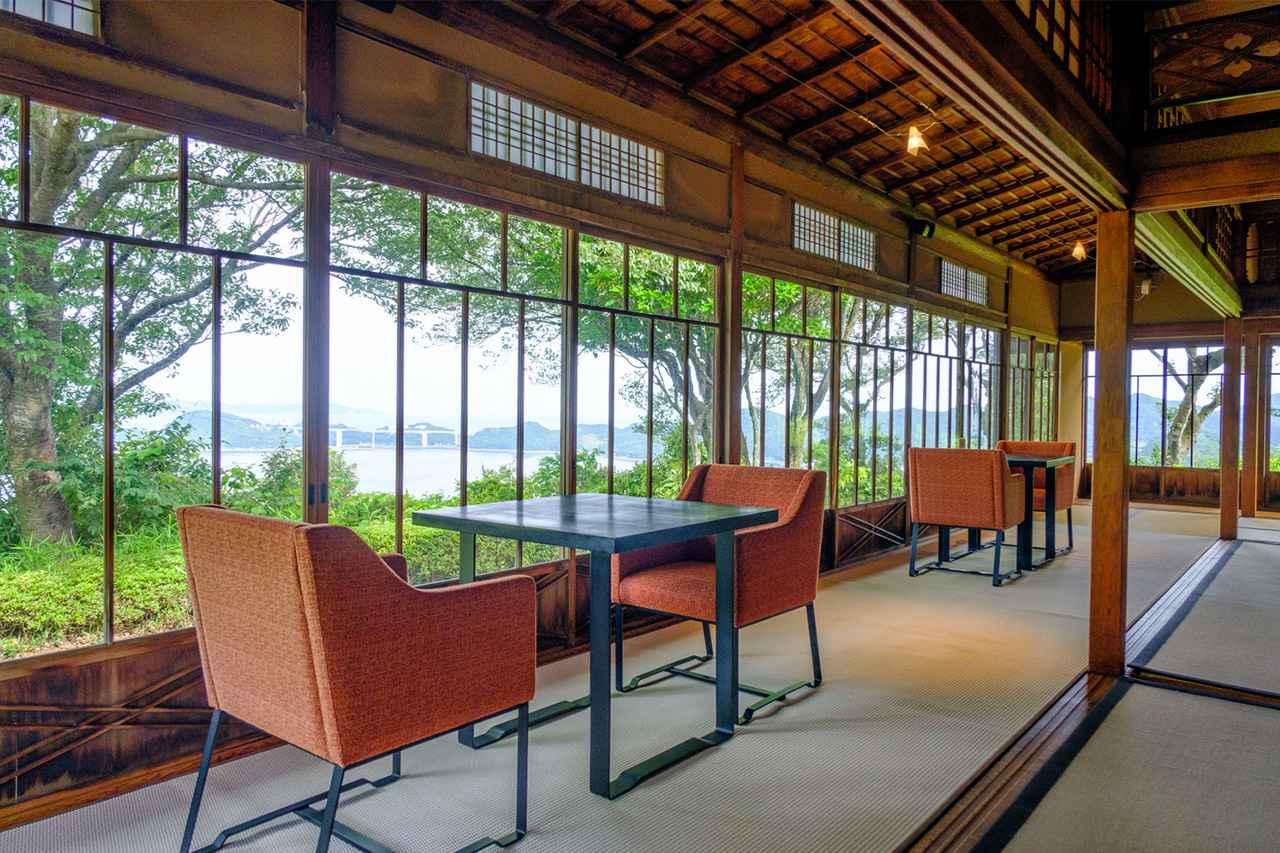画像: 国登録有形文化財「旧三井高達別荘」も見学。細部にまで丁寧な意匠が施されていました。