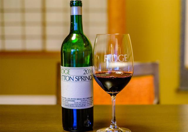 画像: カリフォルニアワイン「RIDGE(リッジ)」リットンスプリング。香り、味わいの凝縮感あり。