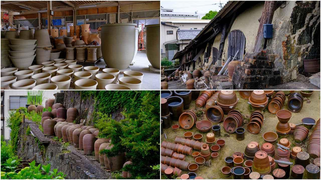 画像: 人の背丈ほどもある甕や鉢が造られています。