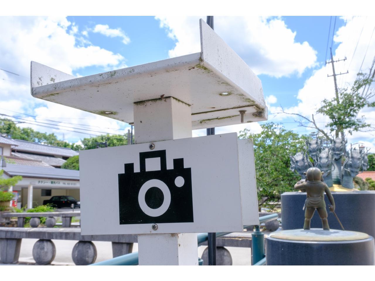 画像: カメラの絵が描かれた置き台から撮影すると、ベストショットが撮影できます。
