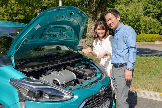 画像1: 家族でフル乗車しても十分パワーがある、自然吸気1Æ5Lガソリンエンジン。