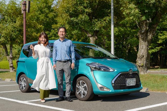 画像1: RADIO TEST DRIVE/今井優杏さんによるトヨタのシエンタの試乗インプレッション ガソリン車編
