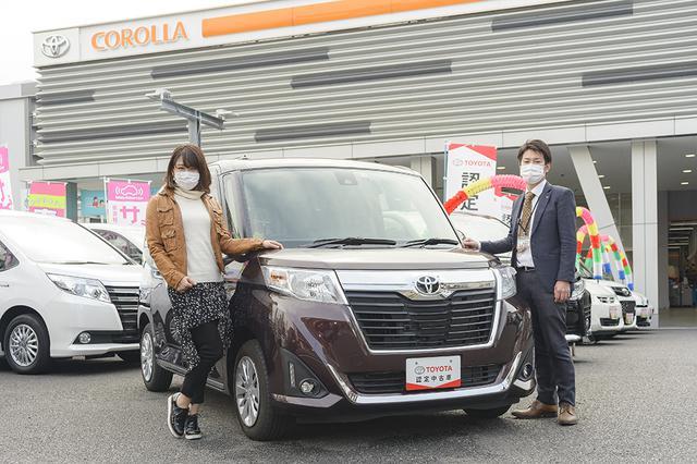 画像1: RADIO TEST DRIVE/今井優杏さんによるトヨタ認定中古車「ルーミー」試乗インプレッション
