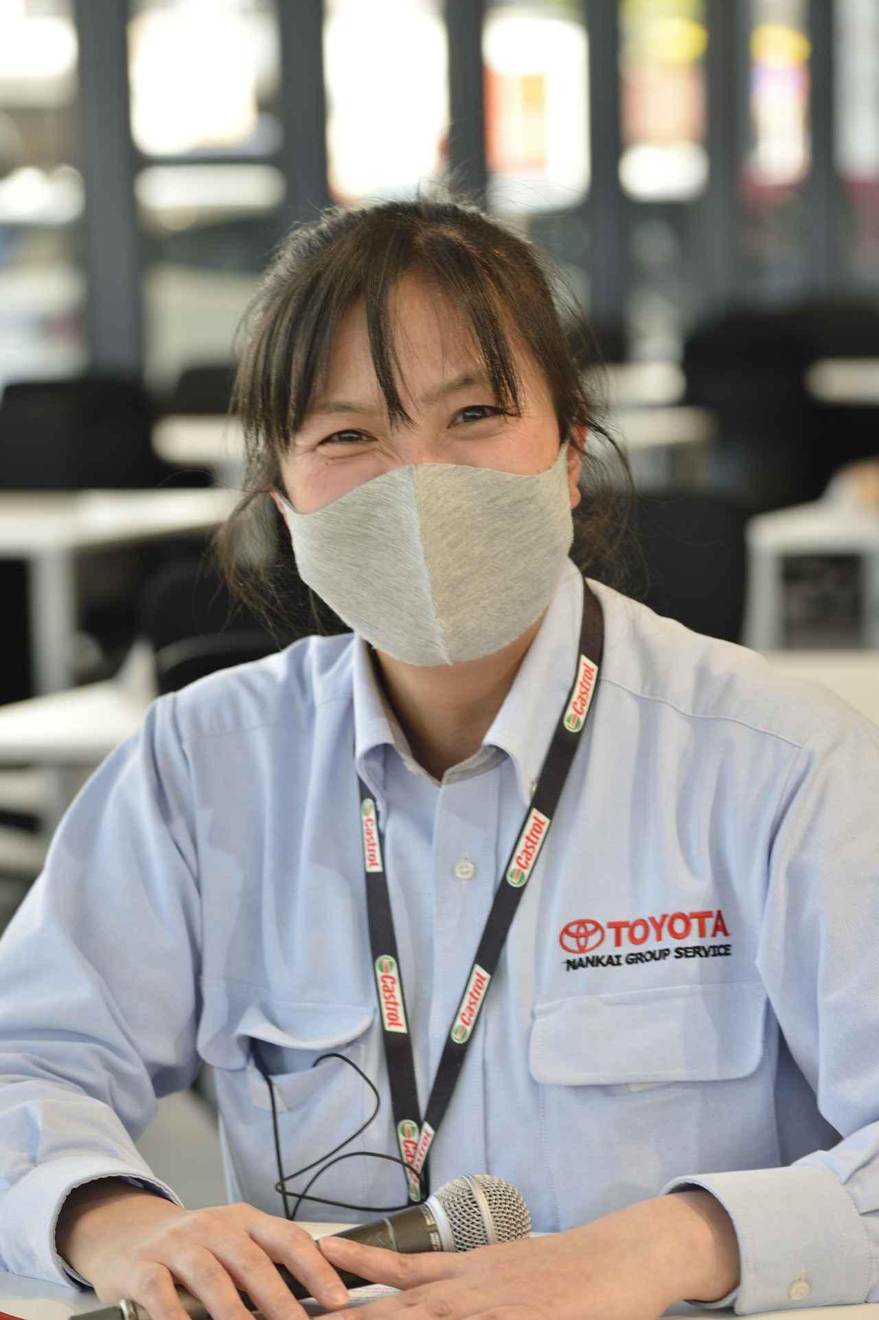 画像: 6月に中古車コーナーもオープン予定で、お客様の様々なニーズにお答えしていきますと飯田さん。