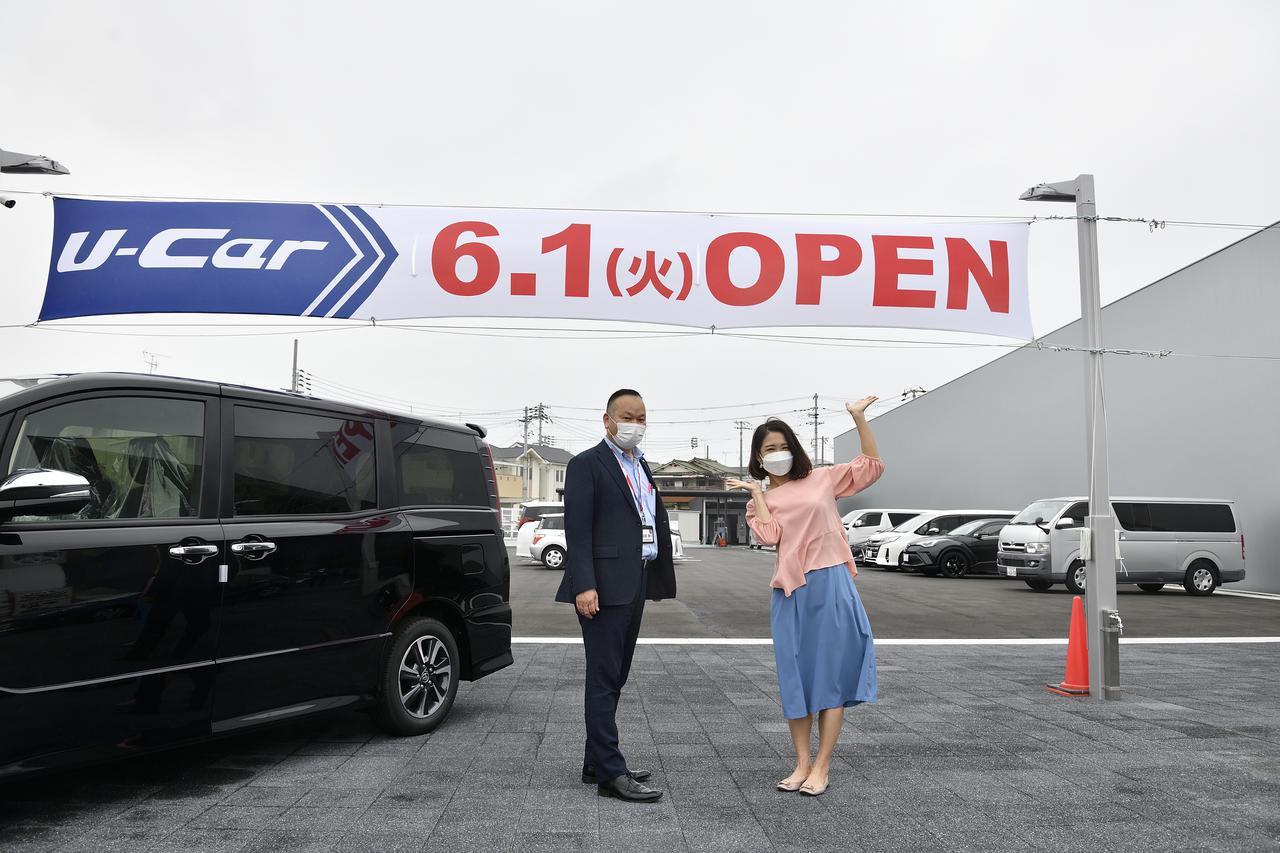 画像: U-Car堺大野芝モール店は6/1オープン(予定)となっております!お楽しみに! ※後ろに見えるクルマは展示車ではありません!取材に伺った際は駐車場として利用されていました。