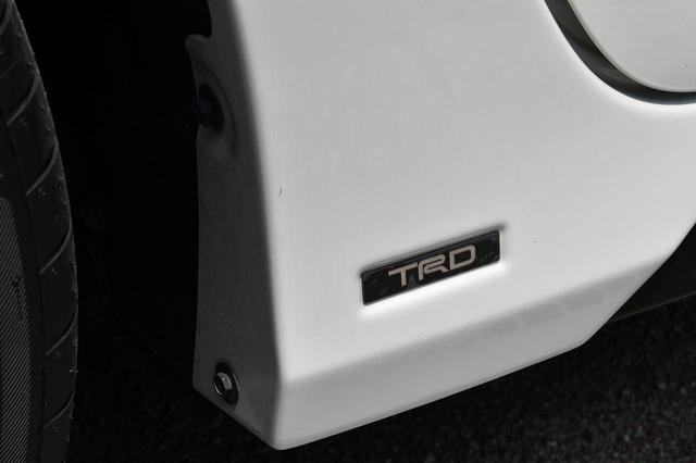 画像: TRDロゴもバッチリです。