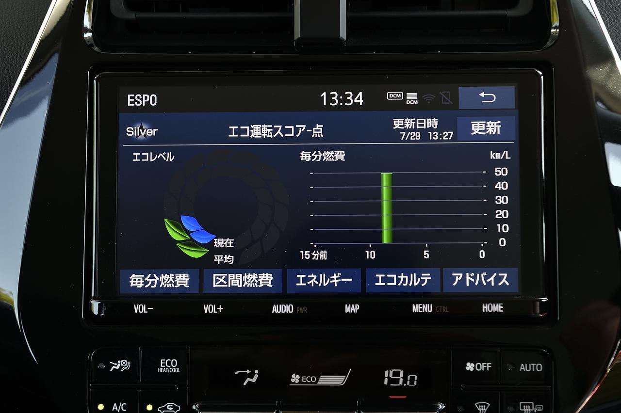 画像: エコドライブをゲーム感覚で楽しめるエコ情報画面。エコドライブの楽しさを広げるコンテンツが充実!