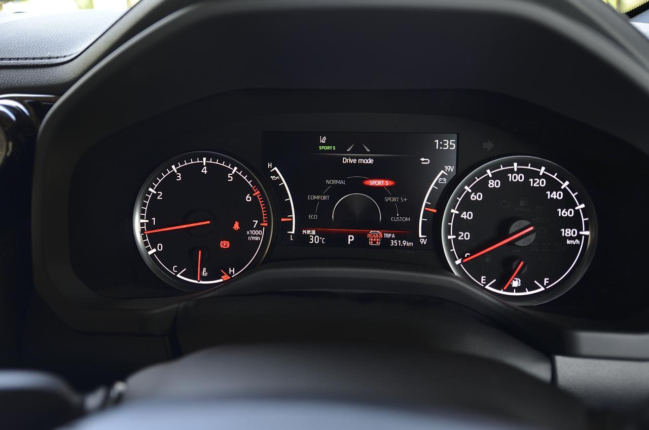 画像: 走行モードはメーターパネル上でも確認可能。燃料計、水温計、油圧計、電圧計が直感的に視認できるデザインのメーターパネル。ZXグレードは2眼タイプを採用。