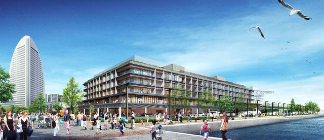 画像: 「客船ターミナル」「商業」「ホテル」一体型複合施設「YOKOHAMA HAMMERHEAD」完成イメージ