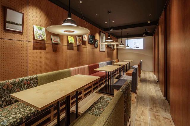 画像: ゆったりとくつろげる和を感じるカフェスペース