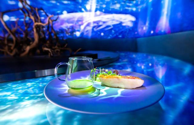 画像: 金目鯛のうろこ焼き 冬瓜と酢橘のすり流し添え