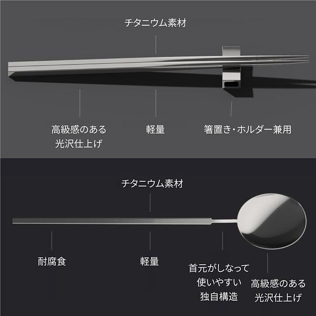 画像1: スタイリッシュで機能的なチタン製カトラリー「Ensō Edition」【良品コレクションVol.2】