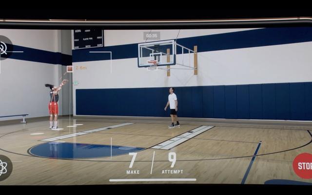 画像: バスケットボールのシュート練習アプリ「HomeCourt」 www.homecourt.ai