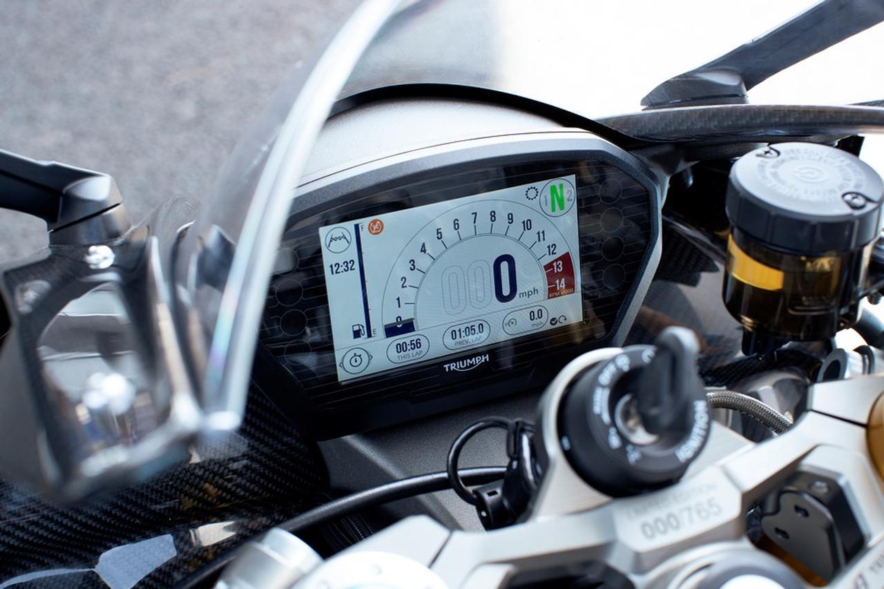 画像: Moto2オフィシャルブランドロゴを起動画面に表示したフルカラーTFTディスプレイ
