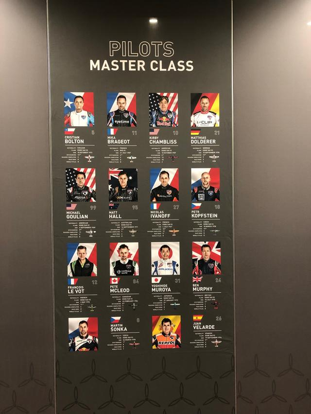 画像: マスタークラスのパイロット14名。