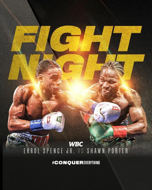 """画像1: World Boxing Council on Instagram: """"History on the making!  Are you ready for a wonderful boxing night with #SpencePorter + #DirrellBenavidez ?  #WBC #ConquerEverything"""" www.instagram.com"""